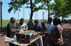 Picnic at Liberty State Park
